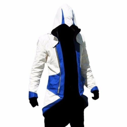 Connor Kenway Hoodie Jackets Coats Costume For Assassin′s Creed 3 Cosplay Party