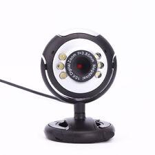 Hot 12.0 Mega Pixels USB 6 LED Web Camera with Microphone Webcam for Laptops PC