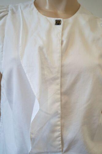 maniche con scollo maniche Camicia lunghe a a in 100cotone pieghe senza cotone Sandro2;M bianco sQthdr