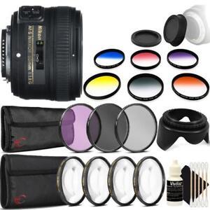 Nikon-AF-S-NIKKOR-50mm-f-1-8G-Lens-and-Accessories-For-Nikon-DSLR-Cameras