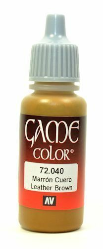 Vallejo Color 72040 Leather Brown 17ml 39736