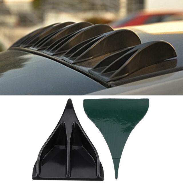 8Pcs Black Vortex Generators Roof Shark Fins Spoiler Wing Kit For Car Truck SUV