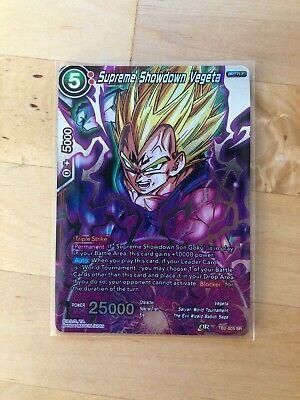 Red Dragonball Super Super Rare Supreme Showdown Vegeta TB2-005 SR