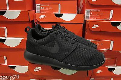 Nike Roshe Run One Triple Black Out All 511881-026 Anthracite Rosherun Sz: 8-13
