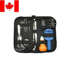 13pcs Watch Repair Tool Kit Opener Link Remover Spring Bar Hammer + Back Case