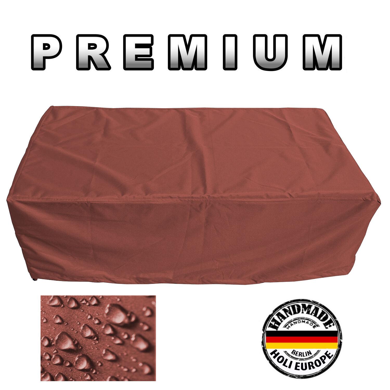 Premium jardín mesa cubierta projoectora lona cobertora 55cm x 110cm x 160cm café latte
