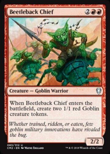 NM-Mint English Command Beetleback Chief x4 Commander Anthology Volume II