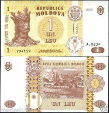 MOLDOVA 1 LEU UNC BANK NOTE for coin notes collector # L 6