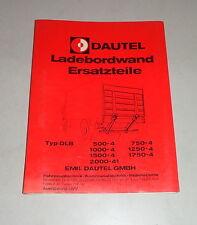 Teilekatalog / Ersatzteilliste Dautel Ladebordwand - Stand 06/1983