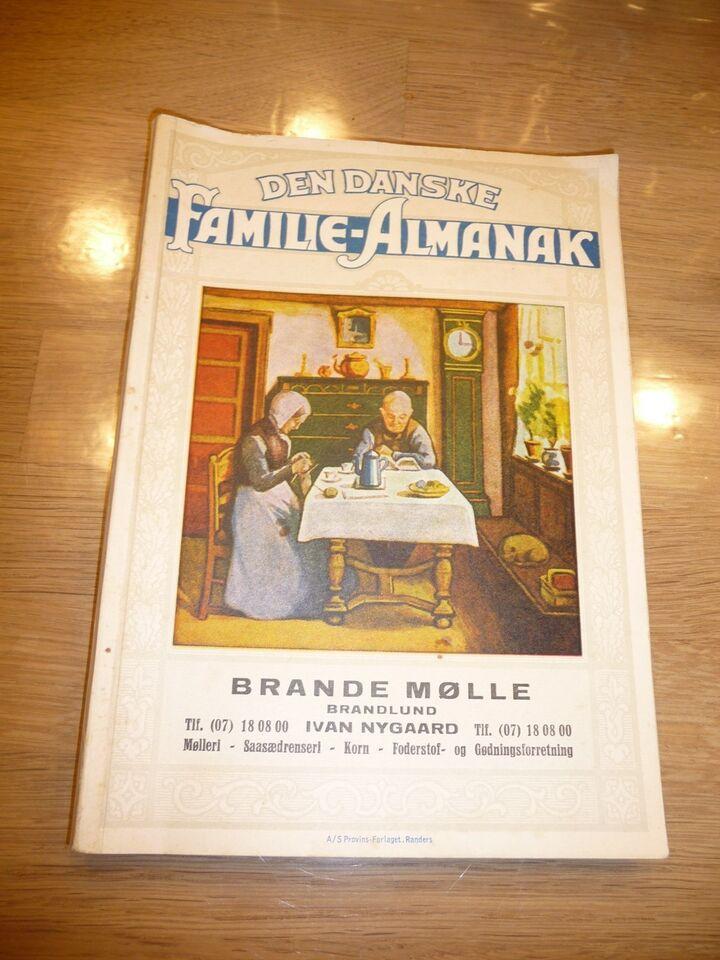 Den Danske Familie Almanak, Brande Mølle, emne: historie