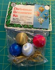 Walco Holiday PEPPERMINT STICK Vtg Sequin Bead Christmas Ornament Kit Candy Cane
