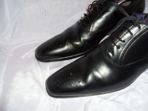 Black Size 45 Vgc Leather Lace Uk Billionaire 10 11 Men's Eu Up Elegant Us Shoe mv0N8wn