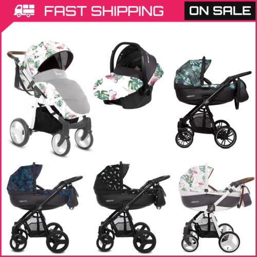 Cochecito de bebé Cochecito 3in1 Recién Nacido Cochecito Capazo de asiento de coche sistema de viaje