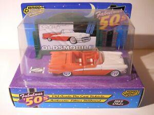 Road-Champs-1-43-scale-1955-Oldsmobile-98-Starfire-Conv-034-50-039-s-Billboard-034-1996