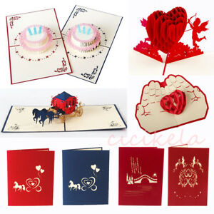 Image Is Loading 3D Pop Up Card Invitation Greeting Cards Handmade