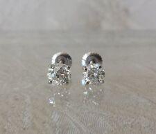 Diamond Stud Earrings 1.45 tcw European Cut Screw Back Estate Find