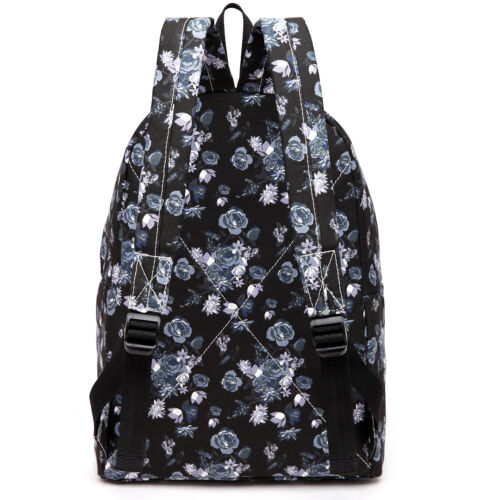 Canvas//Polyester A4 Bag Boys Girls Retro Backpack Rucksack School College Travel