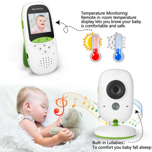 Wireless 2.4GHz Digital LCD Video Baby Monitor Camera Night Vision 2-Way Talk