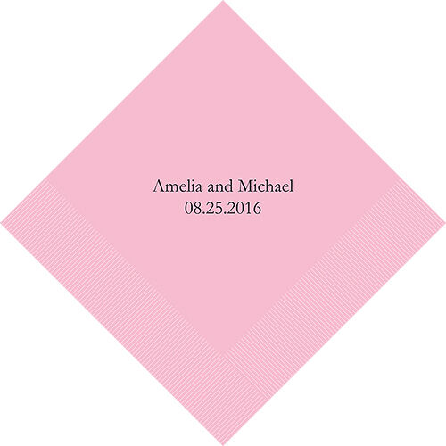 500 No Logo Personalized Printed Wedding Luncheon Napkins