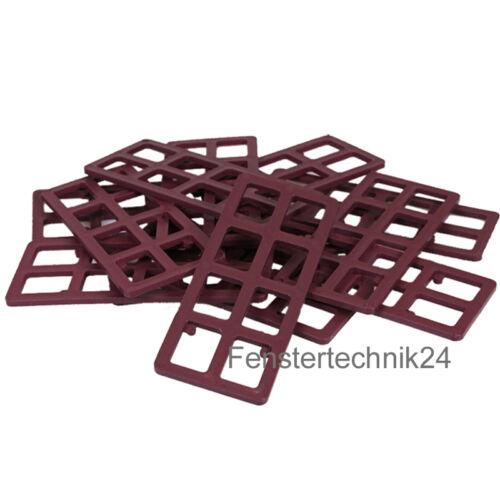 250x Unterleg-Gitterklötze 120x50x3mm Abstandshalter Trageklotz Unterlegplatten