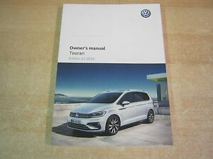 volkswagen touran owners manual owners handbook 2015 2018 ebay rh ebay ie vw touran 2015 owners manual vw touran owners manual