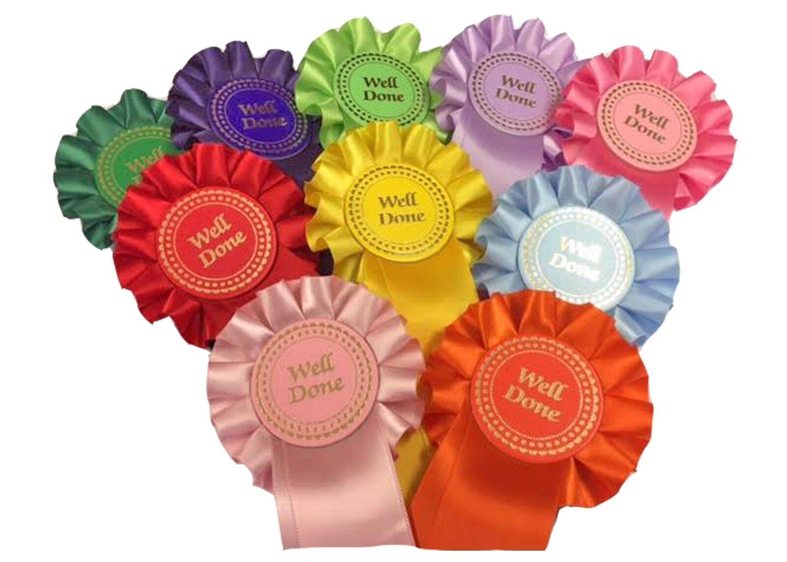 100 X  Bien fait  SPECIAL  Pony Party  Clair Ronde  Personnalisé rosettes