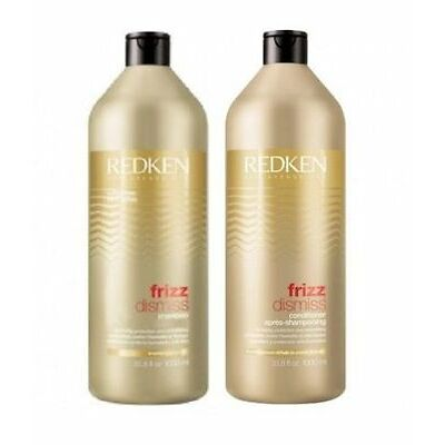 Redken Frizz Dismiss Sulfate-free Shampoo and Conditioner 1000ml Duo Pack