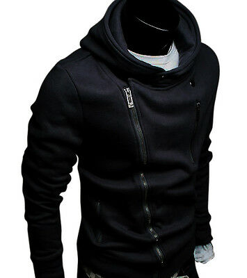 Z05 Mens Classic fashion Slim Rider Zip Up Hoody Jackets 3 Colour Size S,M,L,XL