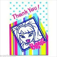 Bratz Pinstripes Thank You Notes (8) Birthday Party Supplies Stationary Invite