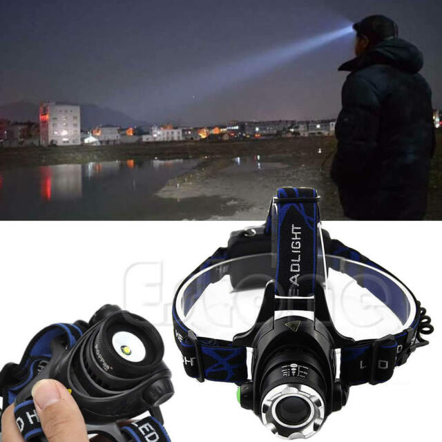 2000LM Zoomable XM-L T6 LED 18650 HeadLamp Torch HeadLight Rechargeable BS