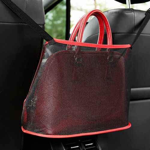 Car Mesh Pocket Durable Holder Dog Barrier Seat Back Container Purse Net M3F8