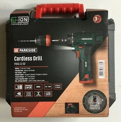 Parkside 4 V sans fil Tournevis DEL Torche Bits Case Chargeur USB 2020 Neuf Scellé