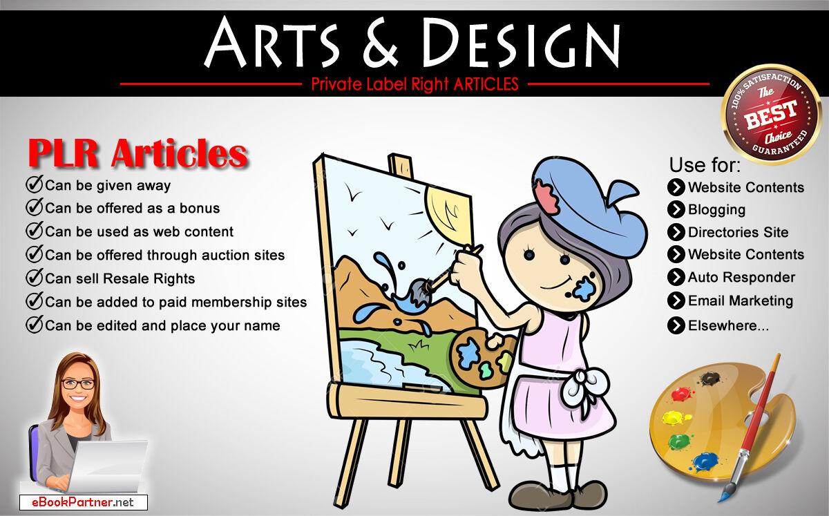 200+ PLR Articles on Arts and Design Niche Private Label Rights