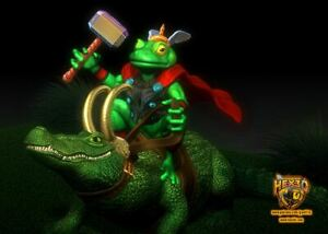 Throg and  Alligator Loki - Marvel Disney MCU Show - Norse Mythology