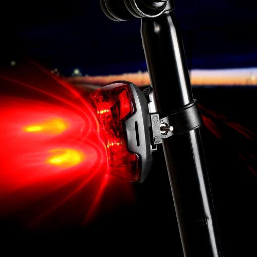 2LED Bright Bicycle Bike Safe Rear Tail Flashing Back Light Warning Lats
