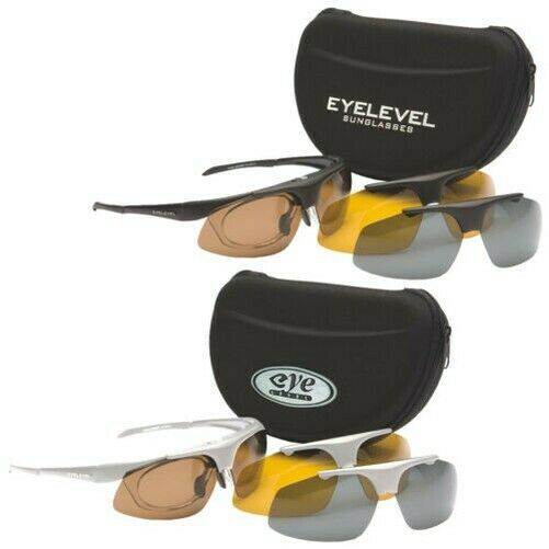 Eyelevel Challenger Polarised Shooting Safety Glasses -3 Lenses UV400 Predection