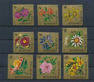 LO10418 Burundi imperf plants flora nature flowers fine lot MNH