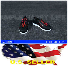 "❶❶ 1/6 shoes Adidas style black red color men sneaker for 12"" figure hot toy USA"