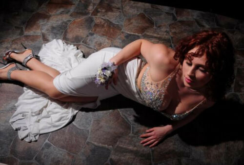 White Prom Dress By Cinderella