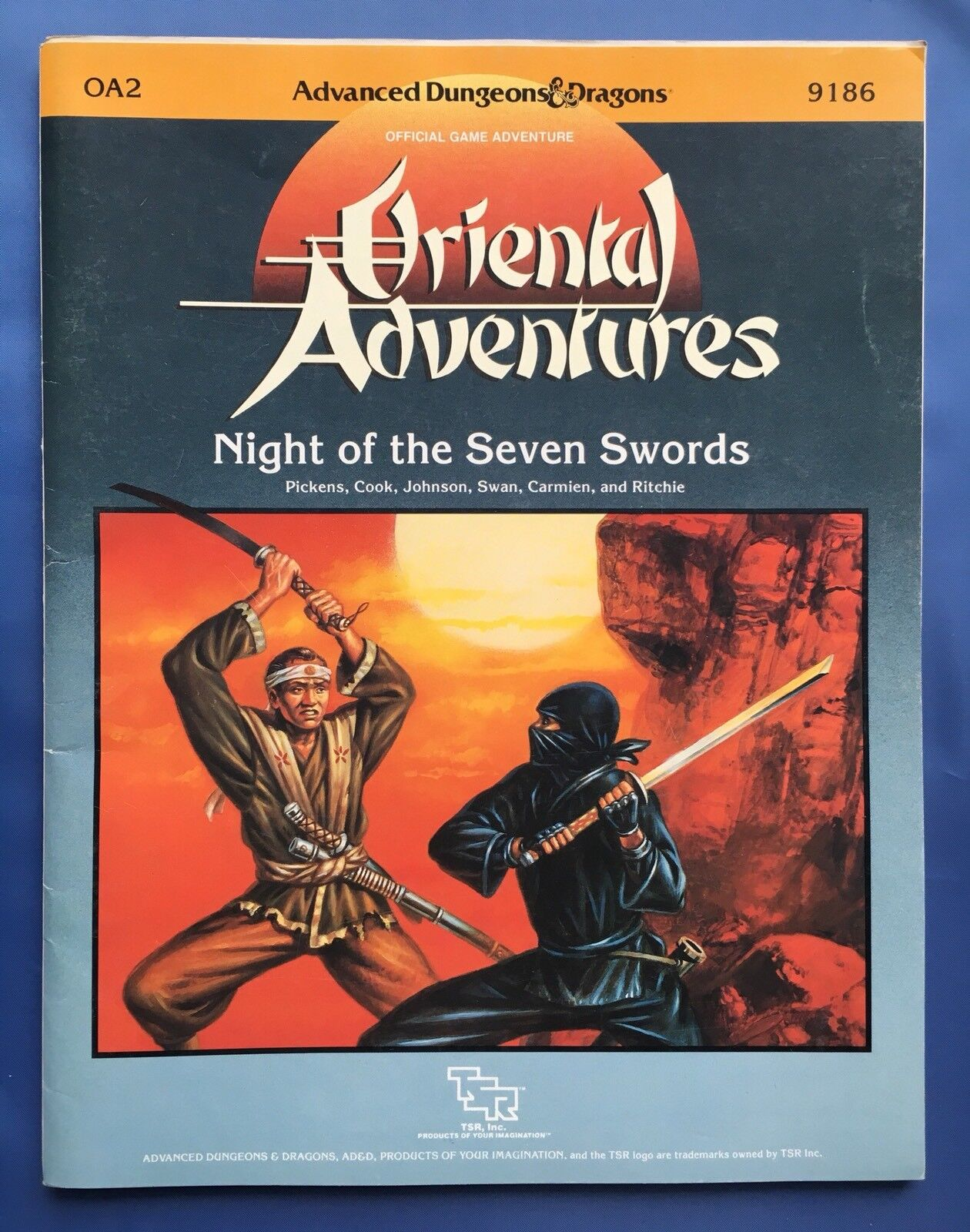 NIGHT OF THE SEVEN SWORDS - Oriental Adventures OA2 - AD&D TSR 9186
