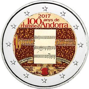 Andorra 2 Euro Münze 2017 Prägefrisch 100 Jahre National Hymne