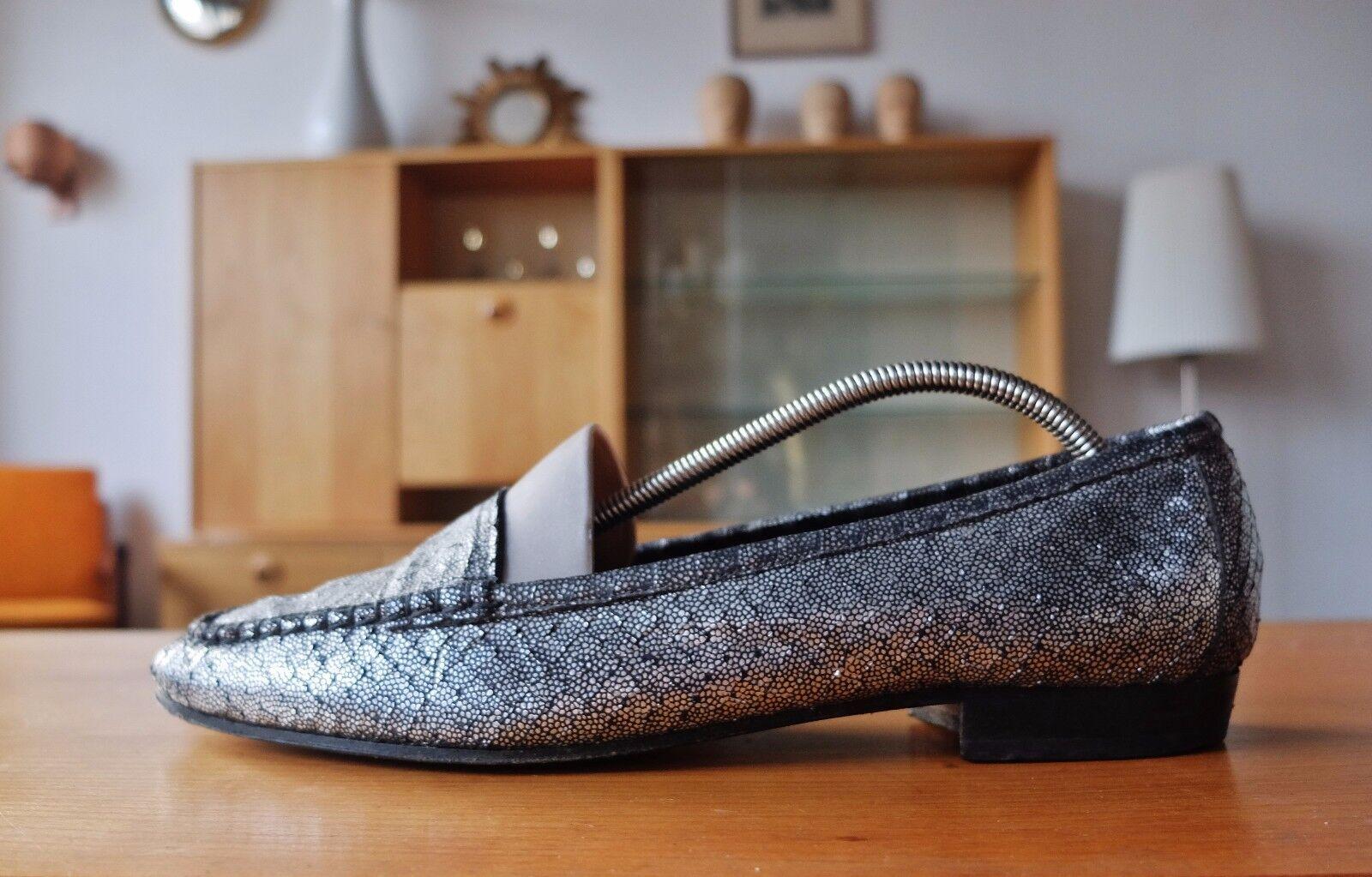 Carriere Carriere Carriere Damen Halbschuh Slipper Textil Schuhe Gr 39,5 UK 6,5 True Vintage 3e89f5