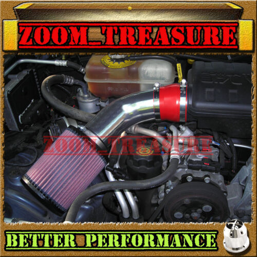 RED CHF 2002-2003 JEEP LIBERTY LIMITED//RENEGADE//SPORT 3.7L V6 AIR INTAKE KIT