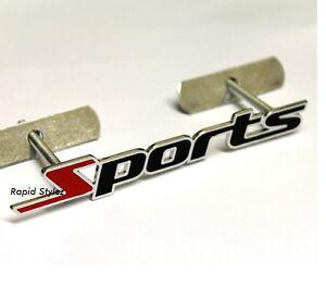 Sports-Grill-Badge-Emblem-Vauxhall-Corsa-Astra-Vectra-Suzuki-Swift-Citroen-85g