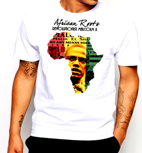 Huey P Newton Black History Month T-shirt Panthers Malcolm X Cotton Tee