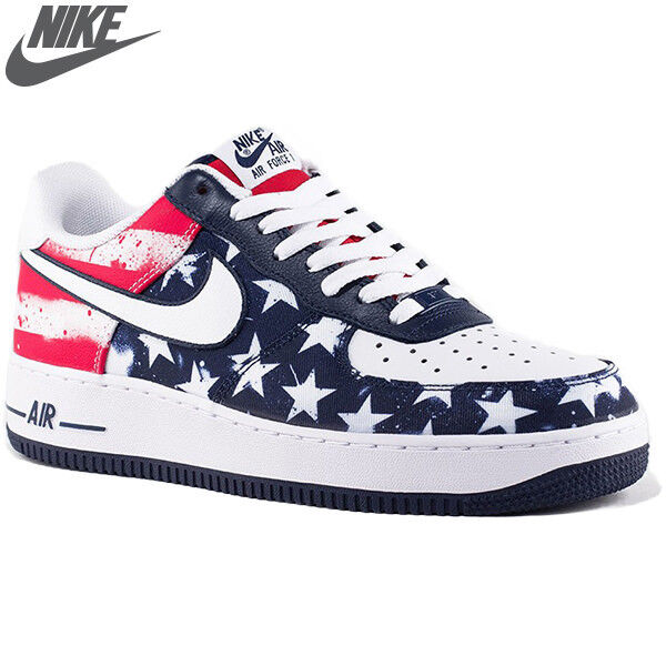 NIKE AIR FORCE 1 INDEPENDENCE DAY TEAM USA FLAG Olympic July 4th Mens sz 8 Shoes
