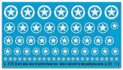 1/72 Ep 2092 Us Army Star Bianco Con Da Durchbrochenem Cerchio