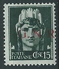 1944 RSI GNR BRESCIA 15 CENT I TIPO VARIETà .G.N.R MNH ** - ED858