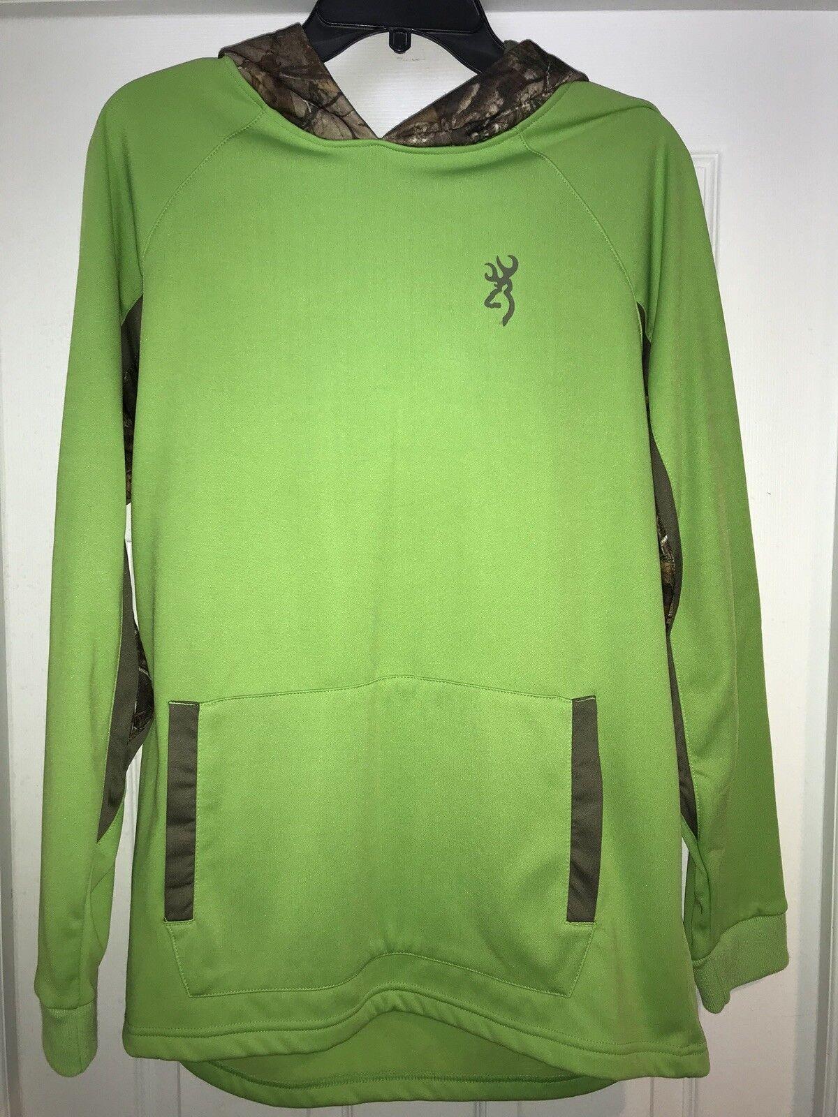 Browning Green Flash Men's Arrow Real Tree Camo Hooded Hoodie  Medium Med Md M  designer online