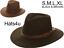 Mens Gents Fedora Hat Panama  Black or Brown 100/% Wool S M L XL Trilby New